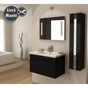 alban salle de bain complete simple vasque 80 cm noir With salle de bain design avec vasque noire castorama