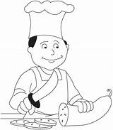 Chef Coloring Pages Hat Drawing Community Fat Printable Preschool Service Kid Sheets Printables Bestcoloringpages Night Workers Bear Pizza Activities sketch template