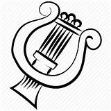 Music Drawing Lyre Harp Getdrawings Classical Instrument sketch template