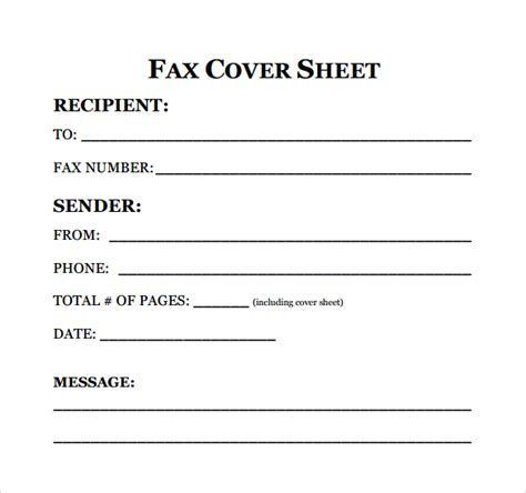Resume Cover Sheet Template by Sle Fax Cover Sheet For Resume 7 Documents In Pdf Word