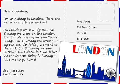 postcard  london learnenglish kids british council