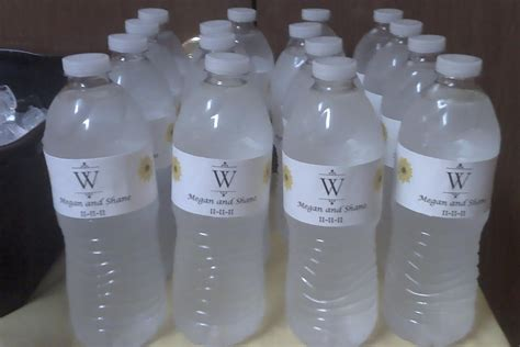personalized water bottle label template water bottle labels template free