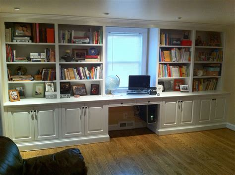 Office Desk With Bookshelf by Exquisite White Wooden Built In Open Bookshelf Ideas With