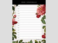 Pretty printable daily kids' schedule House Mix
