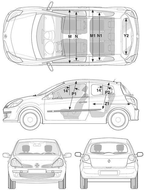 2006 renault clio iii hatchback blueprints free outlines