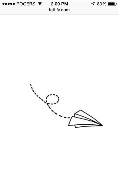 Paper plane tattoo | Paper plane tattoo, Plane tattoo
