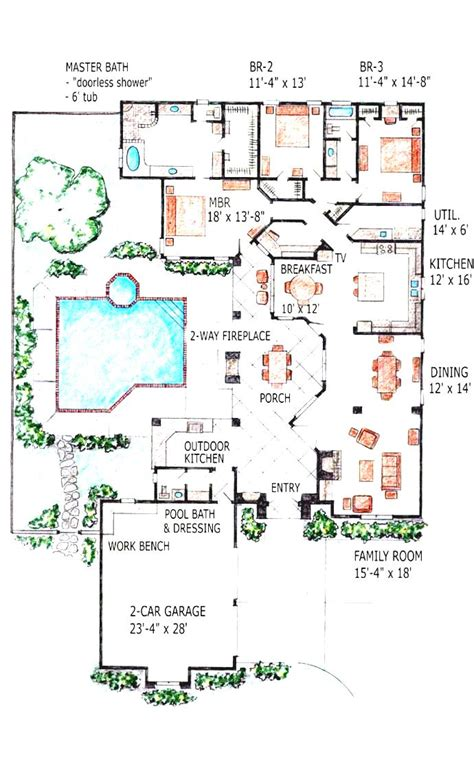 house plans with swimming pools image gallery indoor pool drawing