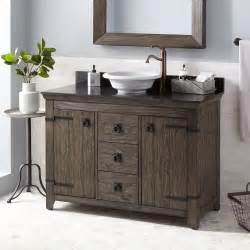 rustic vessel sink vanity 48 quot kane vessel sink vanity rustic brown bathroom