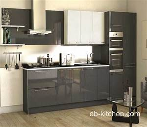 high gloss acrylic grey custom modern kitchen cabinet