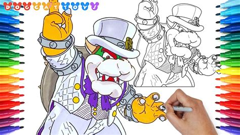 draw super mario odyssey bowser  drawing