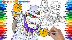 How To Draw Super Mario Odyssey  Bowser  148