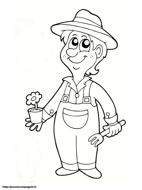 ecole cuisine lyon coloriage jardinier