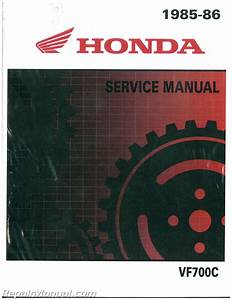 1985 1986 Honda Vf700c Magna Motorcycle Service Manual