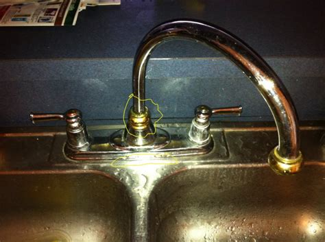 kitchen faucet leaking at base best free home design