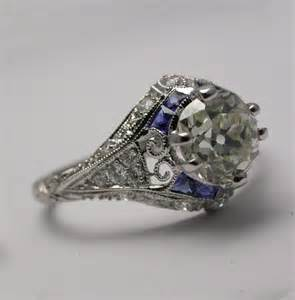 antique sapphire engagement rings vintage saphire rings pics