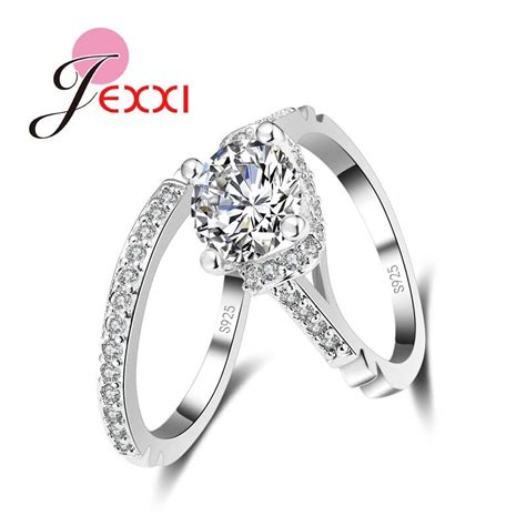 low price wedding ring sets aliexpress com buy jexxi woman fashion 925 st sterling silver wedding engagement rings low