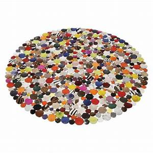 kare design tapis patchwork circle multi 150 cm With tapis rond patchwork