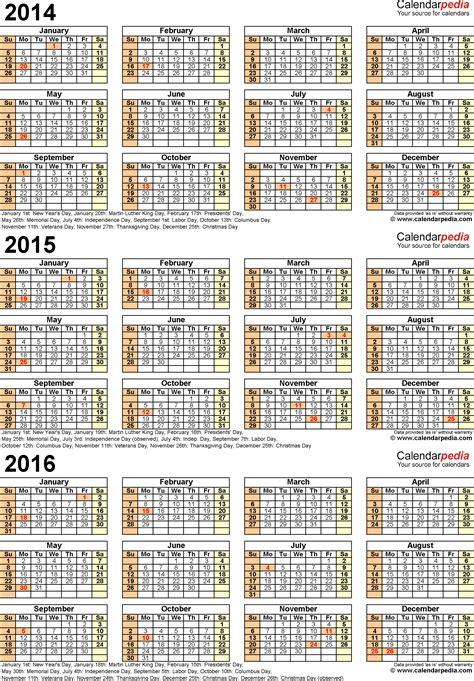 calendar year printable calendars