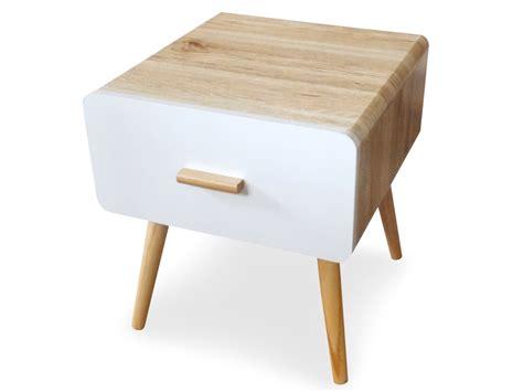 dimension caisson cuisine table de chevet scandinave 1 tiroir amanda chêne clair et