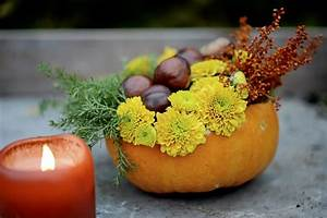Herbstgestecke Selber Machen : herbstdeko mit k rbissen 55 ideen zum nachmachen ~ Frokenaadalensverden.com Haus und Dekorationen