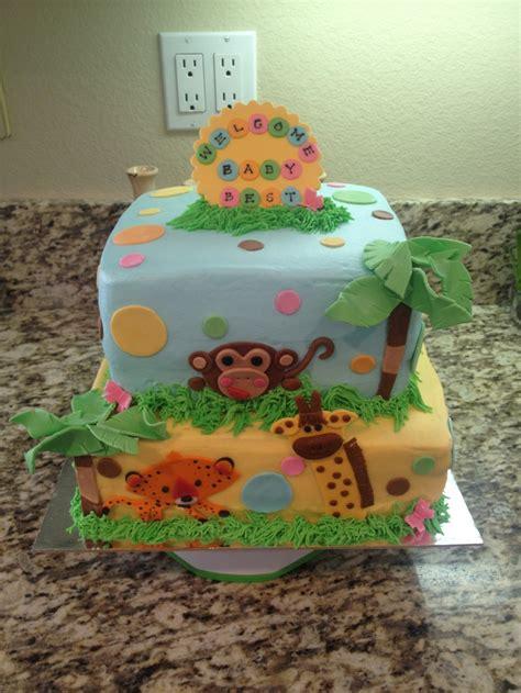 zoo animals baby shower cake cakes pinterest zoos