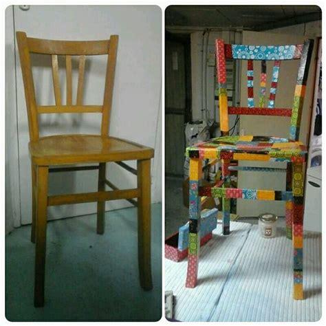 repeindre une chaise patchwork attitude chaise en decopatch très simple à
