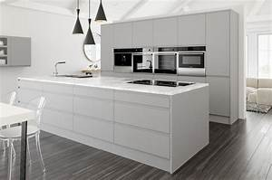 Complete Kitchen Units with HANDLELESS Gloss GREY Doors