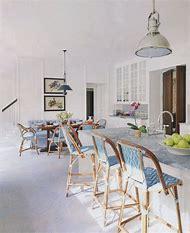 Blue White Kitchen Bar Stools