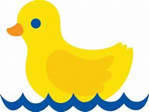 Cute Yellow Duck - Free Clip Art