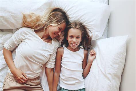Mom With Tween Daughter Stock Image Image Of Portrait
