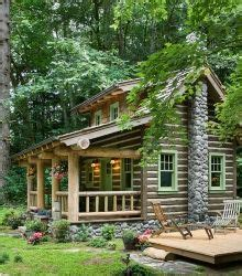 The small log cabin designs featured here are ideal for ...