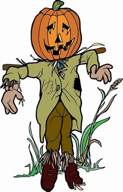 Scarecrow Clip Clipart Halloween Pumpkin Scary Cliparts
