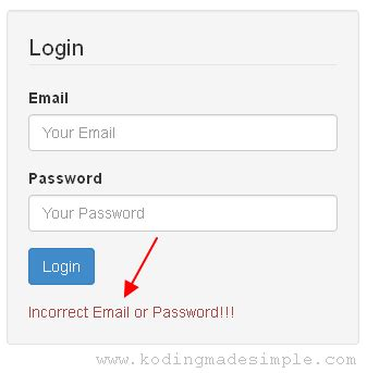 login form in php with session and validation kodingmadesimple programming blog php codeigniter