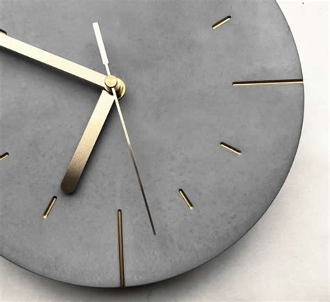 modern concrete wall clock feelgift