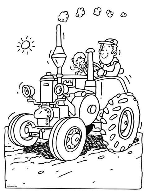 Afbeelding Tractor Kleurplaat by Kleurplaat Trekker Kleurplaten Nl Kleurplaten