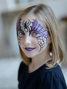 Maquillage D Halloween Pour Fille : best 25 girl face painting ideas on pinterest face painting designs halloween facepaint kids ~ Melissatoandfro.com Idées de Décoration