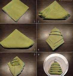 Christmas Tree Napkin Folding Ideas