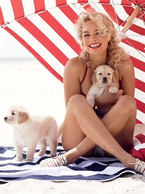 margot robbie cuddles  cutest puppies  earth