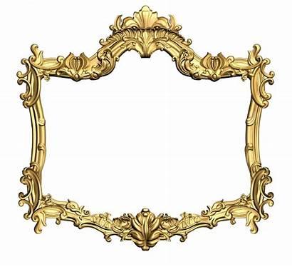 Frame Gold Golden Flower Carving Ornament Carved