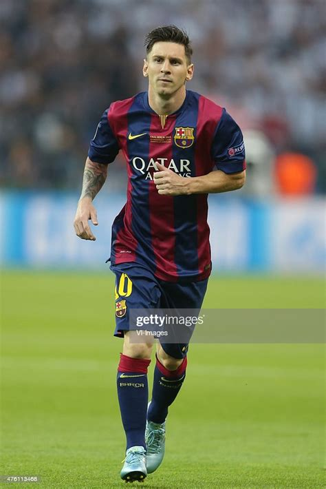 Lionel Messi of FC Barcelona during the UEFA Champions ...