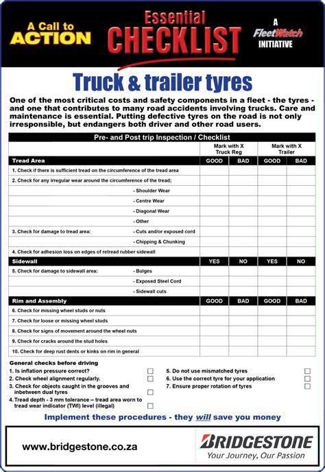 safety checklists fleetwatch