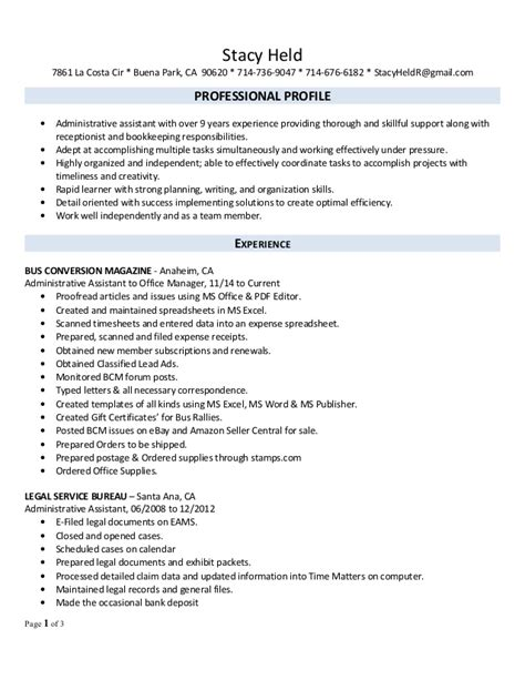 s office manager professional 2016 resume