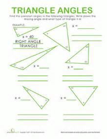 Measuring Angles Worksheet Triangle Angles Worksheet Education Com