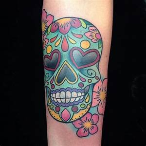 105 Best Sugar Skull Tattoo Designs & Meaning