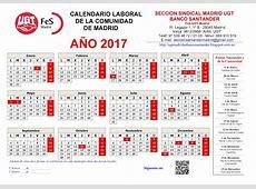 calendario laboral madrid 2017 4 2019 2018 Calendar
