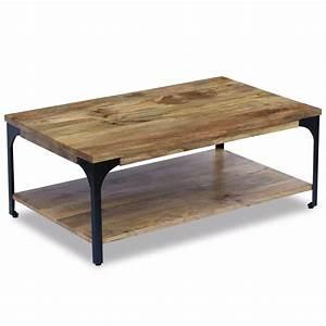 Table Basse Fer Et Bois : acheter vidaxl table basse bois de manguier 100 x 60 x 38 cm pas cher ~ Teatrodelosmanantiales.com Idées de Décoration