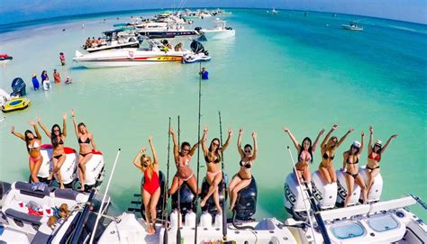 sandbar boat party miami florida key biscayne experience rentals island rental rent