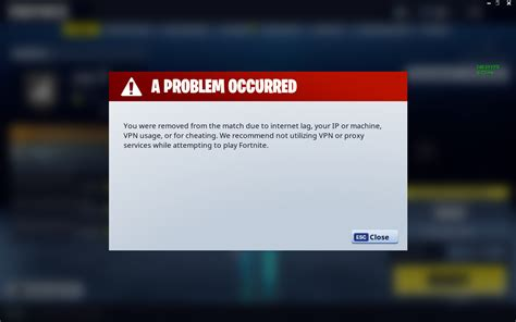 fortnite vpn error   fortnite
