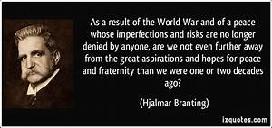 As a result of ... War Result Quotes