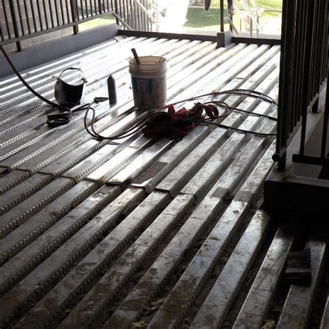 corrugated steel decking for concrete acoustical metal deck